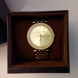 Gold Michael Kors Watch with original box & tags!